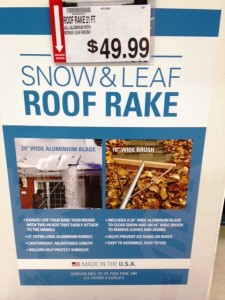 Roof rake
