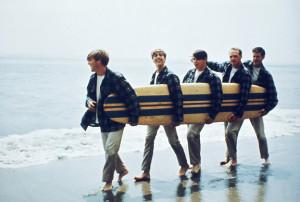Beach boys with surf board