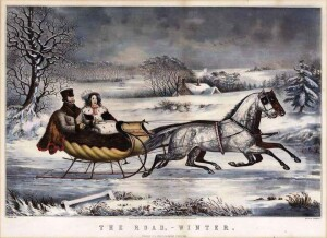 Currier & Ives sleigh ride